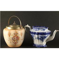 Antique Teapot & Jar