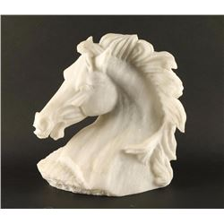 Stone Carving of Horse Head