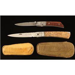 (2) Single Blade Pocket Knives