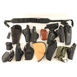 Lot of Black Webbing Holsters
