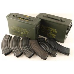 Lot of 6 AK 47 Mags
