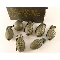 Lot of 7 Inactive Grenades