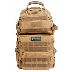 Drago Gear 14302TN Assault Backpack 600 Denier Polyester Tan