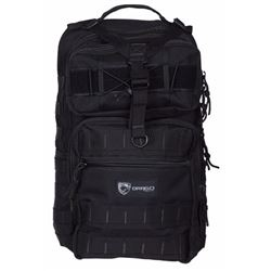 "Drago 14308BL Atlus Sling Pack Backpack Tactical 600D Polyester 19""x11""x10"" Black"