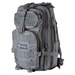 """Drago Gear 14301GY Tracker Backpack Tactical 600D Polyester 18"""" x 11""""x11"""" Gray"""
