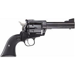 """Ruger 0446 Blackhawk Convertible Single 45 Automatic Colt Pistol (ACP) 4.6"""" 6 Black Rubber Blued"""