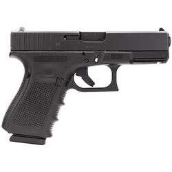 "Glock PG1950203 G19 Gen 4 Double 9mm Luger 4.01"" 15+1 Black Interchangeable Backstrap Grip Black"