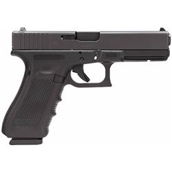 Glock PG1750203 G17 Gen4 Double 9mm Luger 4.48  17+1 FS Black Interchangeable Backstrap Grip Black