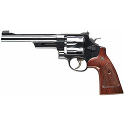 """Smith & Wesson 150341 27 Classic Single/Double 357 Magnum 6.5"""" 6 Walnut Square Butt Blued"""