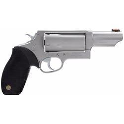 Taurus 2441039MAG Judge Tracker Magnum SA/DA 410/45LC 3  5rd FOF Black Ribber Grip Matte Stainless S