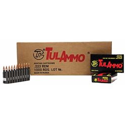 Tulammo Centerfire 223Rem/5.56NATO 55GR - 1000 Rds