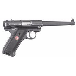 """Ruger 40105 Mark IV Standard Double 22 Long Rifle (LR) 6"""" 10+1 Black Aluminum Grip Blued"""