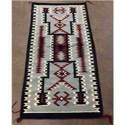 Vintage Storm Pattern Navajo Textile