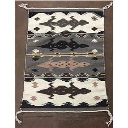 Unique Pictorial Navajo Textile