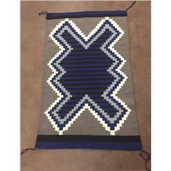 Unique Geometric Pattern Navajo Rug