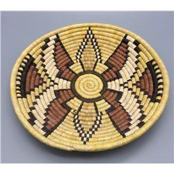 Hopi Coiled Basket Butterfly Design