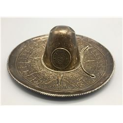 Vintage Sterling Mexican Sombrero Ashtray