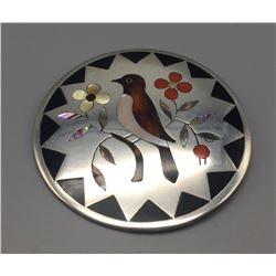 Zuni Inlay Pendant-Pin - Dennis Edaakie