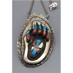 Unique Navajo Bear Paw Necklace