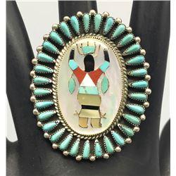 Zuni Inlay Ring - Hattie