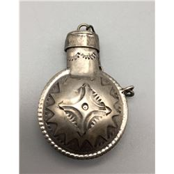 Vintage Sterling Silver Navajo Canteen