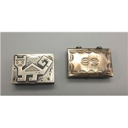 Pair Of Sterling Silver Boxes
