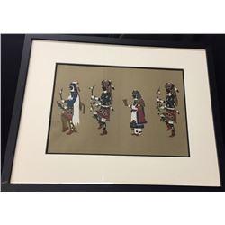 Awa Tsireh -San Ildefanso -Framed Print