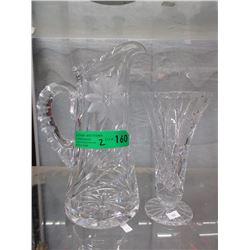 Crystal Jug & Vase