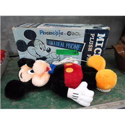 Mickey Mouse Plush Telephone