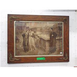 "Antique Steel Engraving ""Old Vienna Brothel Girls"""