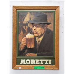 2D Embossed Moretti Advertising Beer