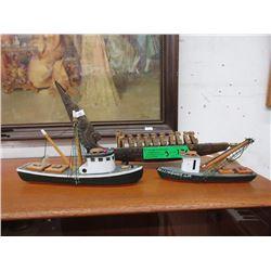 3 Wood Boat Models