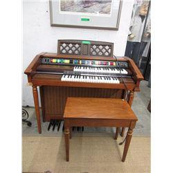 Lowrey Genie 44 Electric Organ with Bench