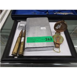 Compass, Giant Lighter & Cartridge Shells