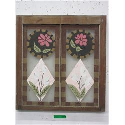 Hand Painted Glass Window Panel