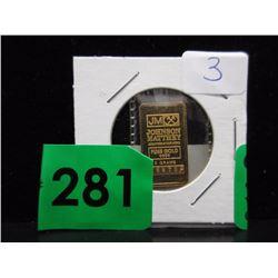 5 Gram .9999 Gold Johnson Matthey Bar
