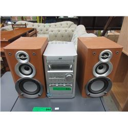 JVC Stereo with CD Player & Cassette Deck