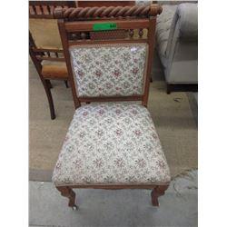 Vintage Upholstered Barley Twist Chair