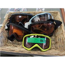 5 Pairs of Ski Goggles