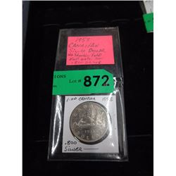1953 Canadian Silver Dollar Coin - .800 Silver