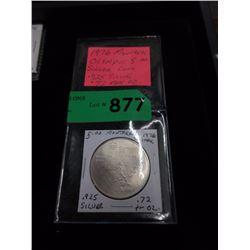 1976 Montreal Olympics Silver $5 Coin