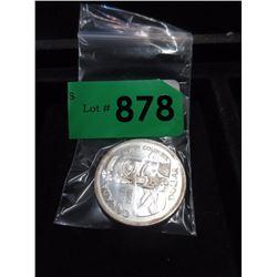 1958 Canadian Silver Dollar Coin - .800 Silver