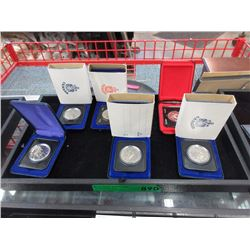 6 Royal Canadian Mint $1 Coins in Holders