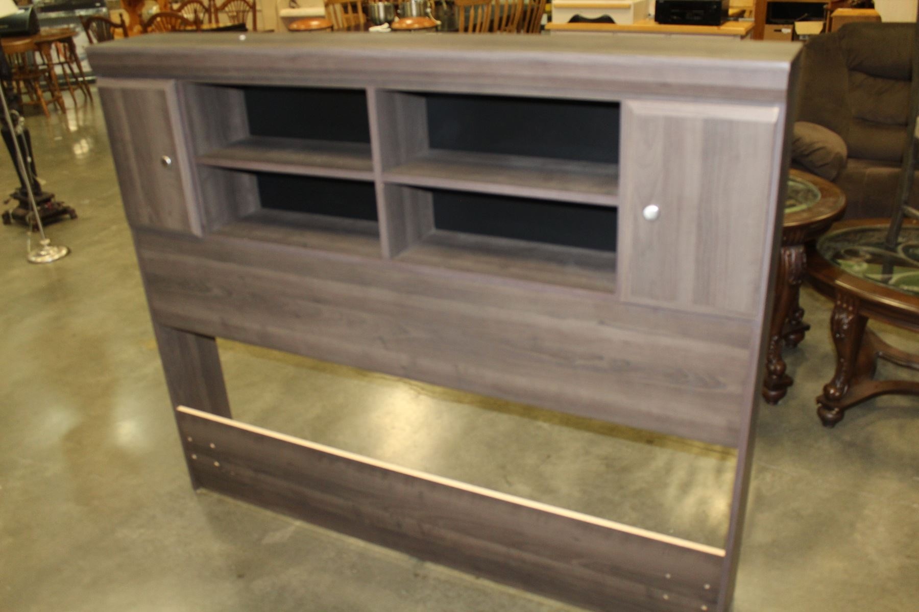 New Dynamic Furniture Cypress Queen Size Bookcase Headboard Shipping Damage From Handles Retail 3