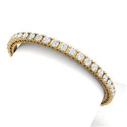10 CTW Certified VS/SI Diamond Bracelet 18K Yellow Gold - REF-663R4K - 39907
