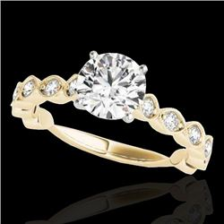 1.75 CTW H-SI/I Certified Diamond Solitaire Ring 10K Yellow Gold - REF-200X2T - 34891