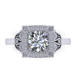 1.75 CTW Solitaite Certified VS/SI Diamond Ring 14K White Gold - REF-496K4R - 38553