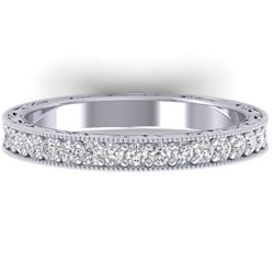 1 CTW Certified VS/SI Diamond Art Deco Eternity Band 14K White Gold - REF-78Y2N - 30270