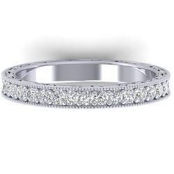 1 CTW Certified VS/SI Diamond Art Deco Eternity Band 14K White Gold - REF-78Y2N - 30270