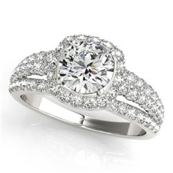 1.75 CTW Certified VS/SI Diamond Solitaire Halo Ring 18K White Gold - REF-252N8Y - 26745